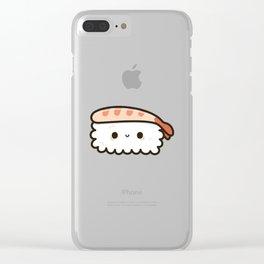 Prawn Sushi Clear iPhone Case