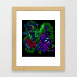 Dog bath Framed Art Print