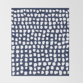 Dots / Navy Throw Blanket