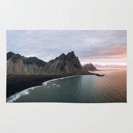 Iceland Mountain Beach Sunrise - Landscape Photography Rug