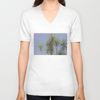 palms V-neck T-shirts featuring Palms by We feel by the Moon.