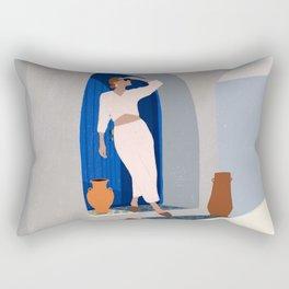 Summer in Santorini Rectangular Pillow