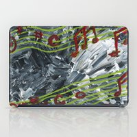 music notes iPad Cases featuring Music Notes by Paxelart
