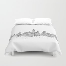 new york skyline music Duvet Cover