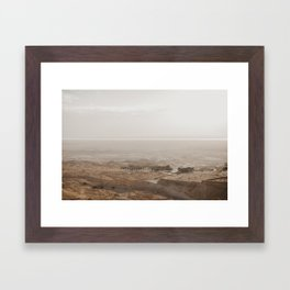 View from the top of the Masada, Israel Framed Art Print