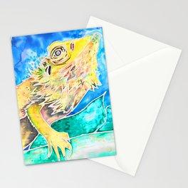 Bearded Dragon Silk Stationery Cards