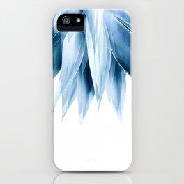 Agave geo fringe - blue iPhone Case