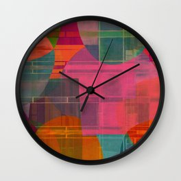 """""""Retro Pop Cubism"""" Wall Clock"""