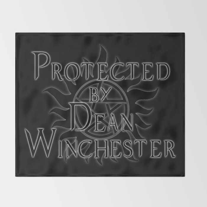 Protected by Dean Winchester Throw Blanket
