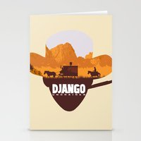 django Stationery Cards featuring Django Unchained by TxzDesign