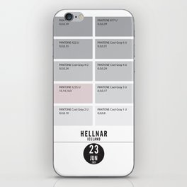 PANTONE glossary - Iceland - Hellnar iPhone Skin