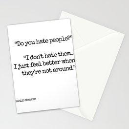 Do you hate people? - Bukowski Stationery Cards