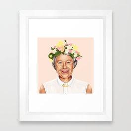 Hipstory - Queen Elizabeth Framed Art Print