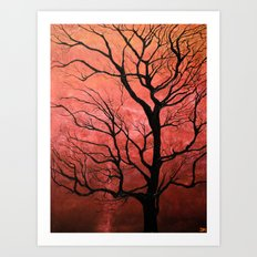 Rose Tree Art Print