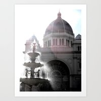 melbourne Art Prints featuring Melbourne  by Carmen