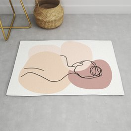 Line Art Nude Woman III  Rug