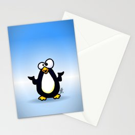 Pondering Penguin Stationery Cards
