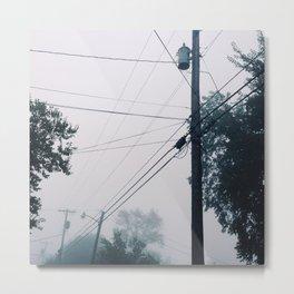 Foggy Lines Metal Print