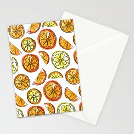 Illustrated Oranges and Limes Stationery Cards