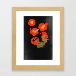 Flower(Tsubaki) Framed Art Print
