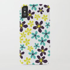 Yellow and Blue Flower iPhone X Slim Case