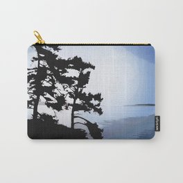 TWO WINDSWEPT DOUGLAS FIR ON THE SHORELINE Carry-All Pouch