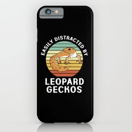 Leopard Gecko Easily Distracted By Geckos iPhone Case