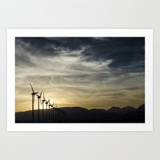 Wind Turbines Landscape Art Print
