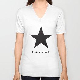 Bowie Blackstar  Baseball Top Long SleeveDavid Bowie Blackstar Raglan Unisex Baseball T-Shirts Unisex V-Neck
