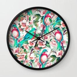 Birds & Flowers #society6 #decor #buyart Wall Clock