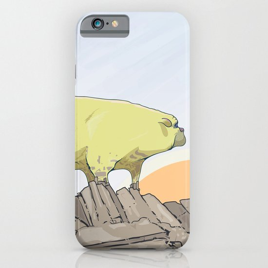 a pug turns into a rock robot iPhone & iPod Case