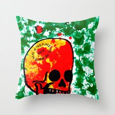 Green hell Throw Pillow