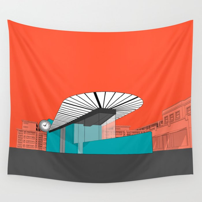 Turquoise Island Wall Tapestry