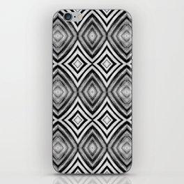 Black White Diamond Pattern iPhone Skin