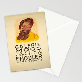 ancienne affiche exposition ferdinand hodler galerie Stationery Cards