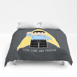 Live Long and Prosper  (Lego Spock - Star Trek) Comforters