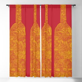 Wine Bottles Blackout Curtain
