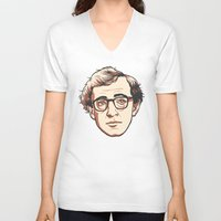 woody V-neck T-shirts featuring Woody by Aaron Scamihorn