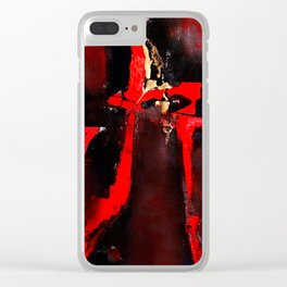 Red Dragon Clear iPhone Case