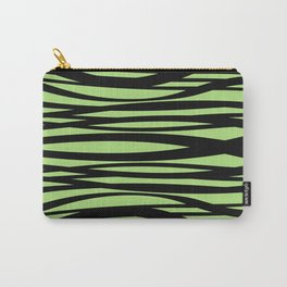 Graphic Design Wave Stripes green Carry-All Pouch