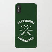 quidditch iPhone & iPod Cases featuring Slytherin Quidditch Team Seeker: Green by Sharayah Mitchell