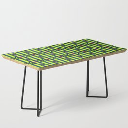 X Face Yellow Coffee Table