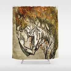 Crying Dryad Shower Curtain