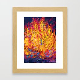 Fire and Passion - Here's to New Beginnings Framed Art Print