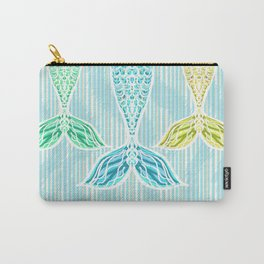 Mermaids and Stripes Carry-All Pouch