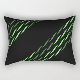 Triangle Theory, No.11 in Blue & Lime Rectangular Pillow