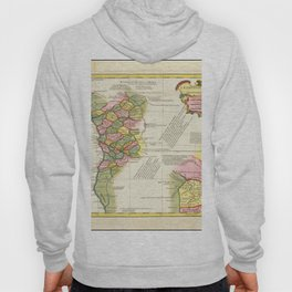 Vintage Map Print - 1732 map of Western Africa by Jean-Baptiste Bourguignon d'Anville Hoody