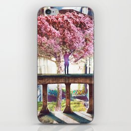 Abandoned Tree in an Abandoned Warehouse iPhone Skin