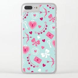 San Valentin Clear iPhone Case