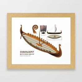 Oseberg Viking Ship Framed Art Print